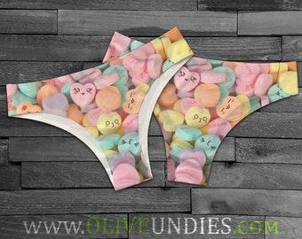 39950b894512 Kawaii Candy Hearts / Candy Panties / Kawaii Underwear