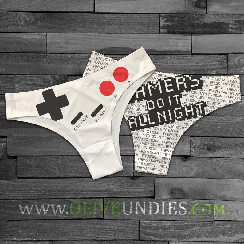 Gamers Do it All Night / Gamer Undies / Gamer Girl Underwear image 0