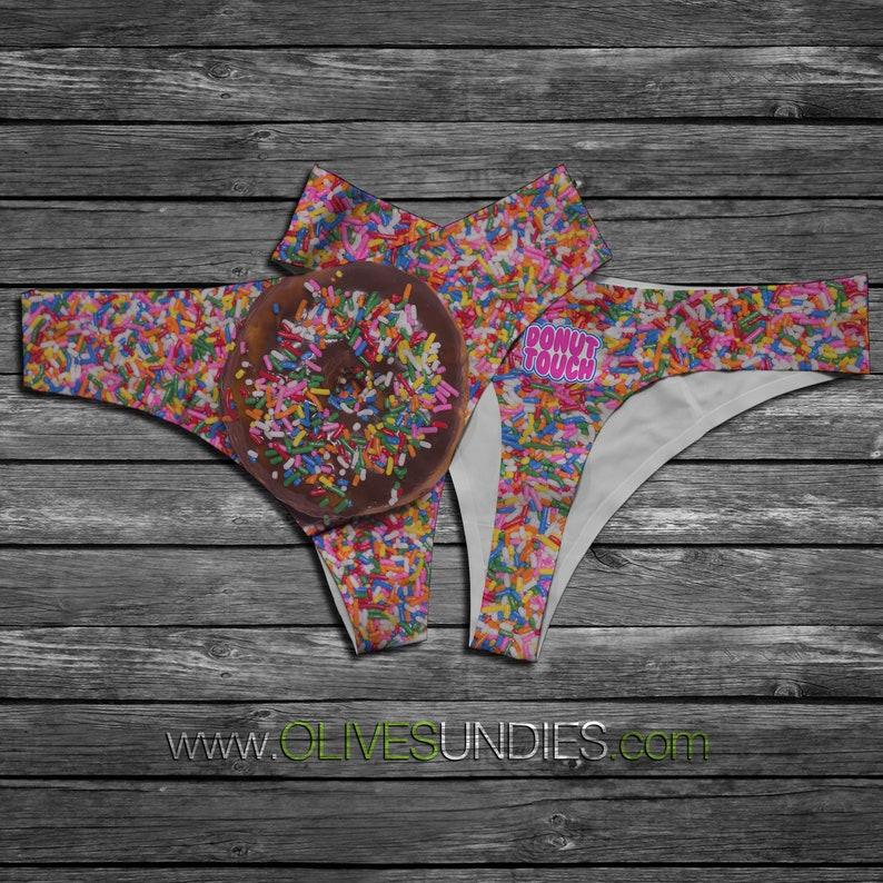 Donut Touch Sprinkle Panties / Cute Food Underwear / Kawaii image 0