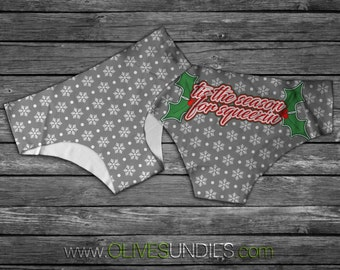 Tis The Season for Squeezin Christmas Underwear/Knickers