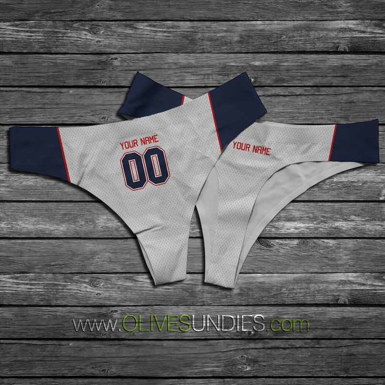Football Jersey Underwear  Create Your Own  Custom Jersey Names and Numbers