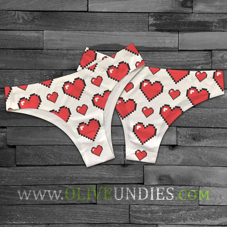 Heart Throb 8-Bit Undies / HeartBreaker Underwear / Empty image 0