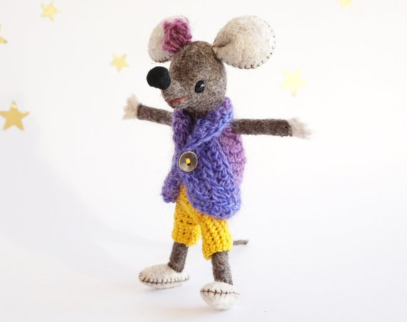 Mouse Doll, Felt Sculpture, Mouse Lover
