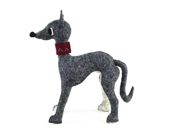 Greyhound Art Doll, a greyhound love gift, soft sculpture