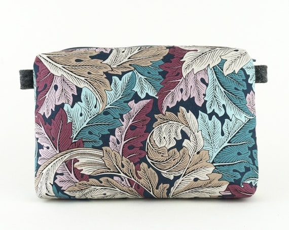 Unique little case, toilet bag, William Morris fabric.