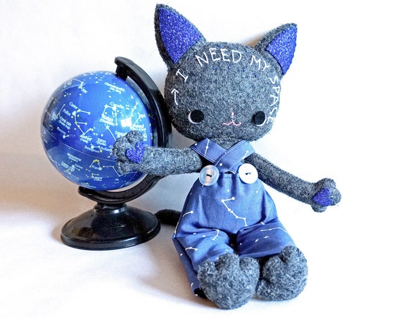 Cat Art Doll, I Need My Space