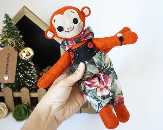 Mono Mico, un mono de peluche hecho a mano