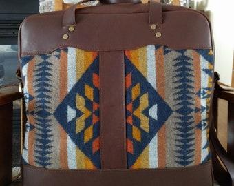 overnight bag, carry on luggage, weekender bag, wool bag, full grain leather luggage, leather weekender bag, leather duffle bag