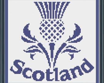 Scottish Thistle Cross Stitch Pattern
