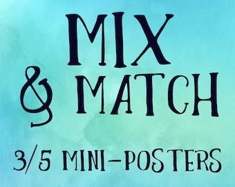 Mix & Match - 3/5 Mini-Posters