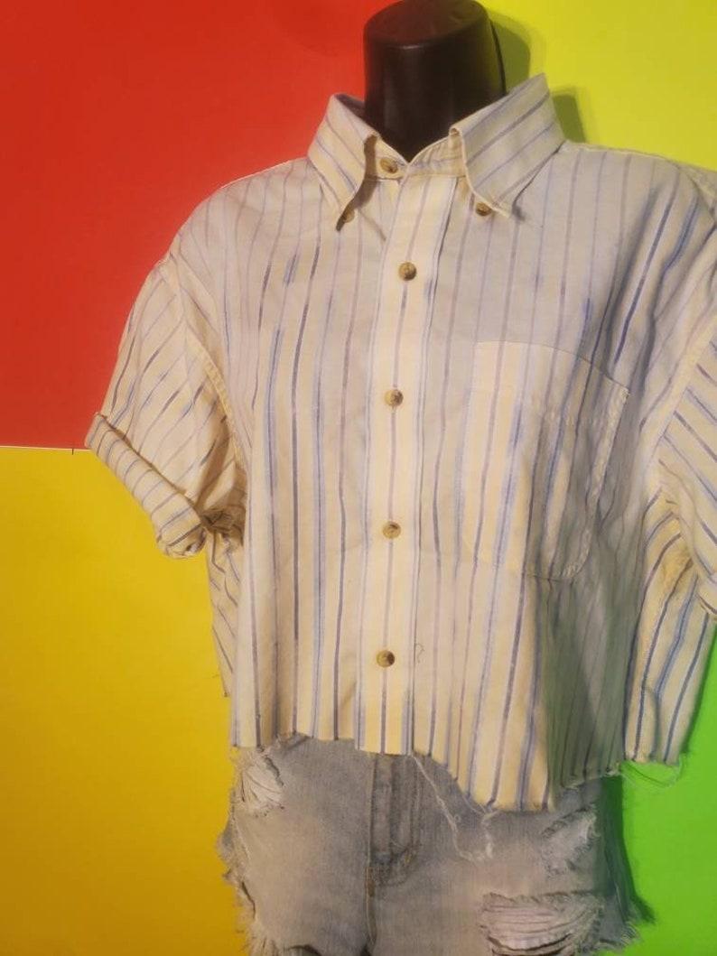 FlyDyes Vintage Acid Wash Crop Button Ups