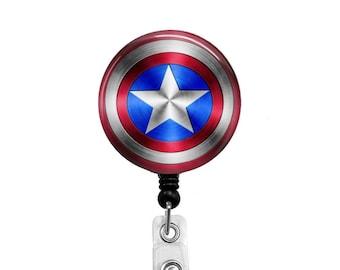 Captain America - Badge Reel Retractable ID Badge Holder
