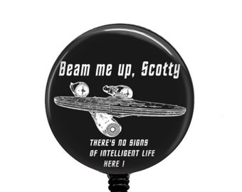Beam Me Up Scotty There/'S No Intelligent Life Down Here License Plate Frame Tag