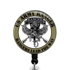 U.S Retractable Badge Holder Space Force Lanyards Stethoscop Badge Reel