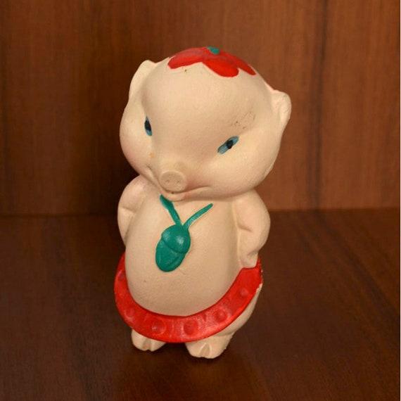 Maiale giocattolo bambola animale antiquariato vecchio giocattolo retky soviet bambini russi bambino giocattolo vintage figurina di gomma