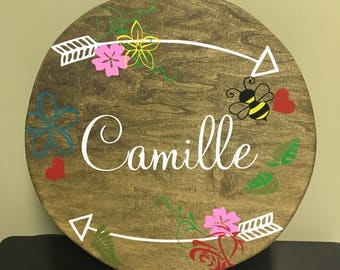 Name plaque - Custom-Wood - handmade