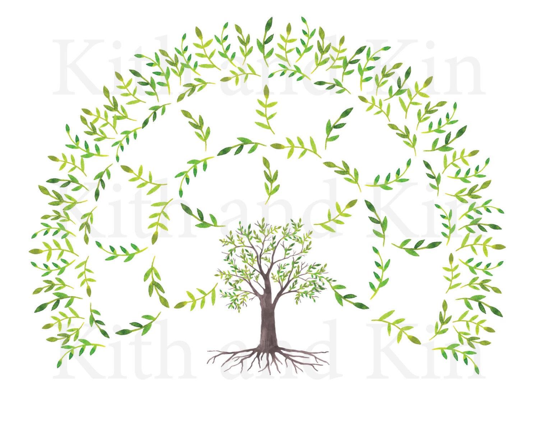 Genealogy Fan Chart Template 3 Generations Blank Etsy