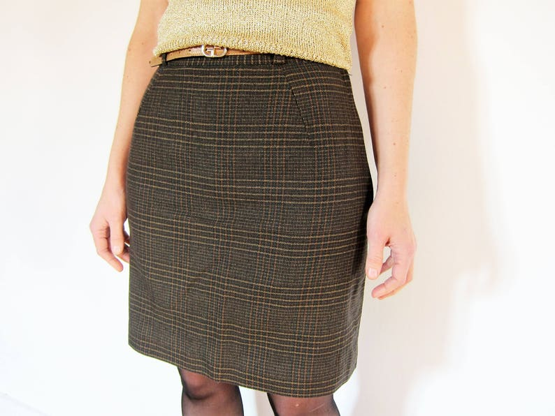 59b473c186 GUCCI skirt 100% wool printed Prince of Wales Plaid Vintage | Etsy