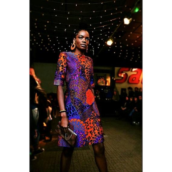 1960 psychedelic dress sixties 60s Boho