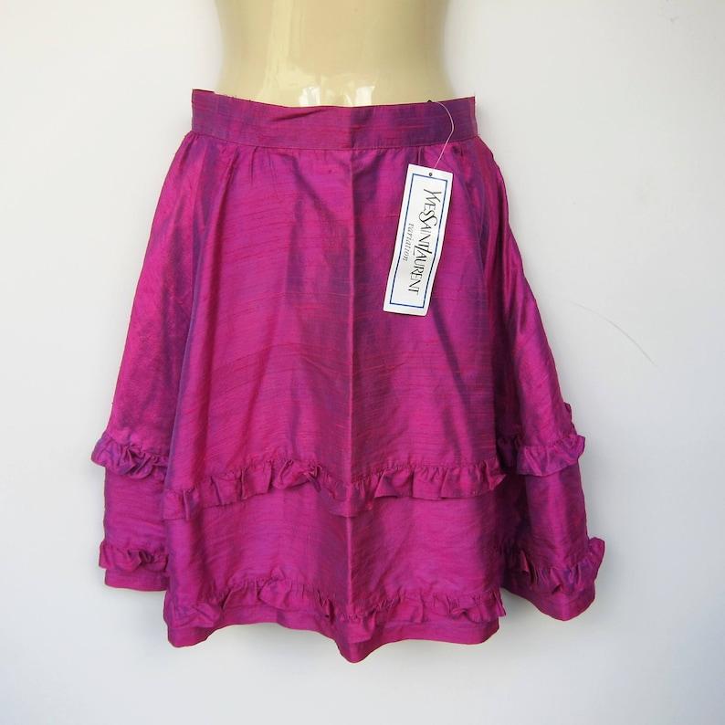 89fbdb7b63b Yves Saint Laurent YSL Paris Vintage silk skirt fuschia XS | Etsy