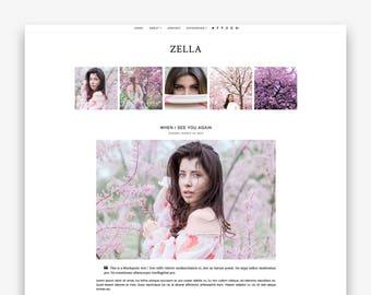 Zella | Responsive Minimalist Premade Blogger Template