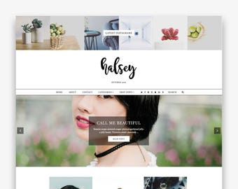 Halsey | Responsive Minimalist Premade Blogger Template