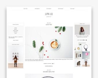 Lipa Lo | Responsive Minimalist Premade Blogger Template