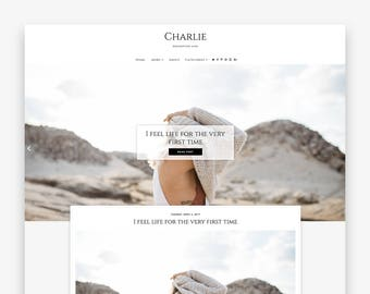 Charlie | Responsive Minimalist Premade Blogger Template