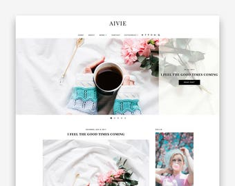 Aivie | Responsive Minimalist Premade Blogger Template