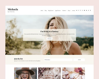 LIMITED! Michaela - WordPress blog theme for Genesis , Responsive Wordpress Theme , Feminine Blog Theme , Genesis Child Theme