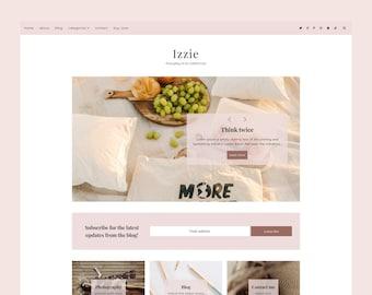 Izzie - Blogger Template, Premade Blogger Theme, Responsive Blogger Template, Responsive Blogger Theme, Minimalist Blogger Theme
