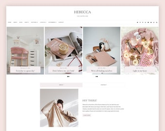 LIMITED! Hebecca - WordPress blog theme for Genesis , Responsive Wordpress Theme , Feminine Blog Theme , Genesis Child Theme
