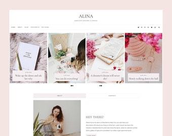 Alina - Blogger Template, Premade Blogger Theme, Responsive Blogger Template, Responsive Blogger Theme, Minimalist Blogger Theme