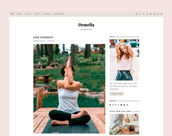 4 left! Demelia - WordPress blog theme for Genesis , Responsive Wordpress Theme , Feminine Blog Theme , Genesis Child Theme