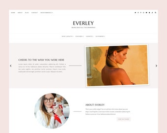 LIMITED! Everley - WordPress blog theme for Genesis , Responsive Wordpress Theme , Feminine Blog Theme , Genesis Child Theme