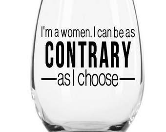 Downton Abbey Wine Glass Contrary Downton Abbey Gift