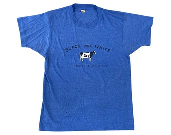 1980s NY State Black and White Cow Breeder T-shirt (S)