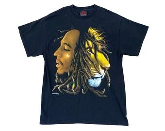 Bob Marley Lion Head Zion Rootswear T-shirt (L)