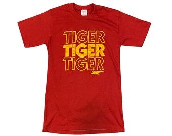 1980s Onitsuka Asics Tiger Shoes Paper Thin T-shirt (S)