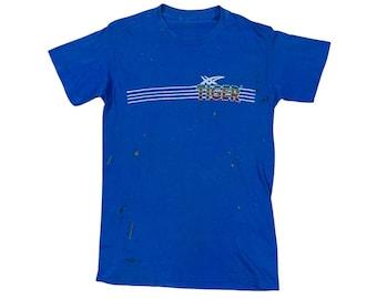 1980s Onitsuka Asics Tiger Shoes Paper Thin Thrashed T-shirt (S)