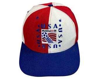 1994 World Cup USA Soccer Team Nutmeg Mills 6 Panel Snapback Cap Hat