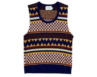 Vintage 1970's Southampton Sportswear Knit Vest (M)
