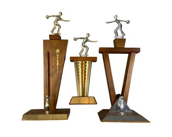 1960s Vintage Bowling Trophies