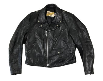 1980s Schott NYC Leather Perfecto 118 Motorcycle Jacket (42)