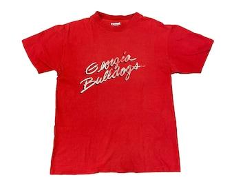 1980s UGA Georgia Bulldogs Script Single Stitch T-shirt (M)