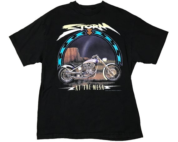 1994 Storm at the Mesa Harley Davidson Motorcycle Shop Shirt (L)