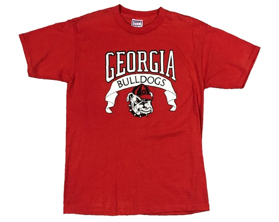 1990 UGA Georgia Bulldogs Banner Single Stitch T-shirt (L)