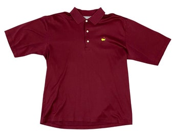 Vintage Masters Logo Augusta National Golf Shop Course Maroon Polo Shirt (L)