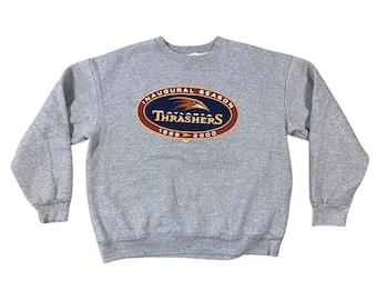 1999 Atlanta Thrashers Hockey Inaugural Season Majestic NHL Sweatshirt (XL)