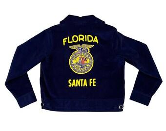 FFA Future Farmers America Corduroy Jacket Size (38) Santa Fe Florida